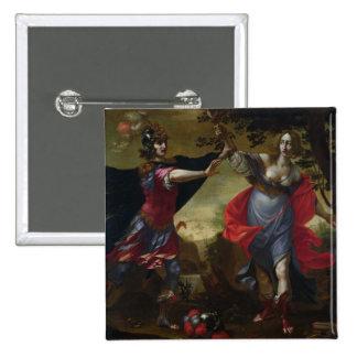 Rinaldo and Armida, c.1630-40 (oil on canvas) 15 Cm Square Badge