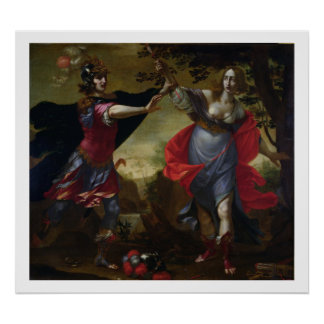 Rinaldo and Armida, c.1630-40 (oil on canvas) Poster