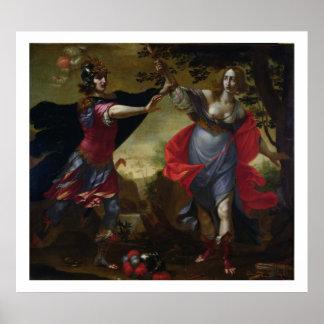 Rinaldo and Armida, c.1630-40 (oil on canvas) Poster