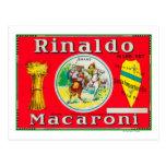 Rinaldo Macaroni LabelPhiladelphia, PA Postcard