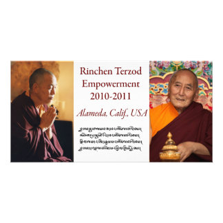 Rinchen Terzod Empowerment Card Customised Photo Card