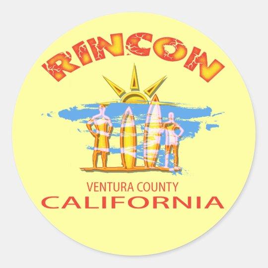 RINCON BEACH CLASSIC ROUND STICKER