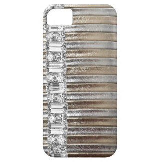 Rinestones Silver & Gold  faux Leather IPHONE CASE iPhone 5 Covers