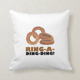 Ring-A-Ding-Ding Onion Ring Rings Junk Food Foodie Cushion