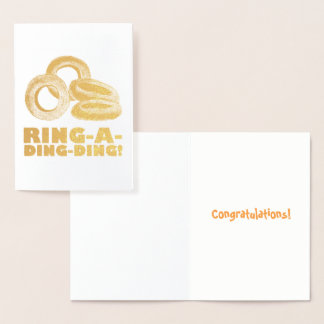 Ring-a-Ding-Ding Onion Rings Engagement Congrats Foil Card