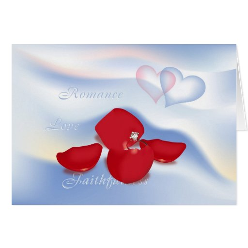 Ring and Petals Greeting Cards