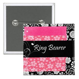 Ring Bearer 15 Cm Square Badge