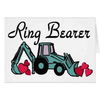 Ring Bearer Backhoe Greeting Card