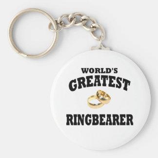 Ring bearer basic round button key ring