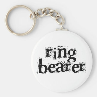 Ring Bearer Black Text Key Chains