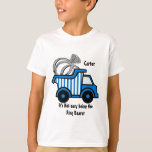 Ring Bearer Blue Dump Truck T-Shirt