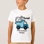 Ring Bearer Blue Dump Truck Tshirts