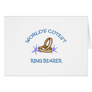 RING BEARER CARD