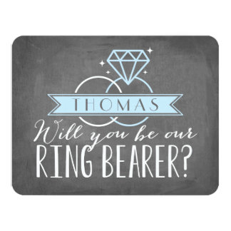 Ring Bearer Card | Groomsman 11 Cm X 14 Cm Invitation Card