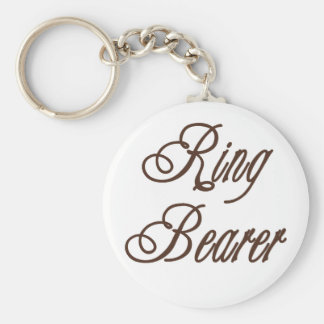 Ring Bearer Classy Browns Keychain