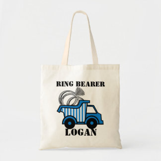 Ring Bearer Dump Truck Blue Tote Bag