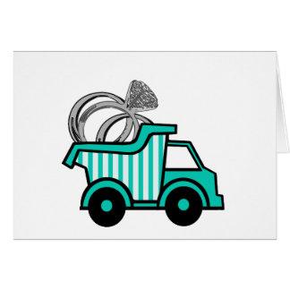 Ring Bearer Dump Truck Greeting Card