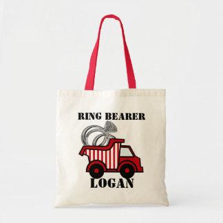 Ring Bearer Dump Truck Red
