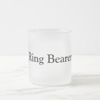 Ring Bearer Frosted Glass Coffee Mug