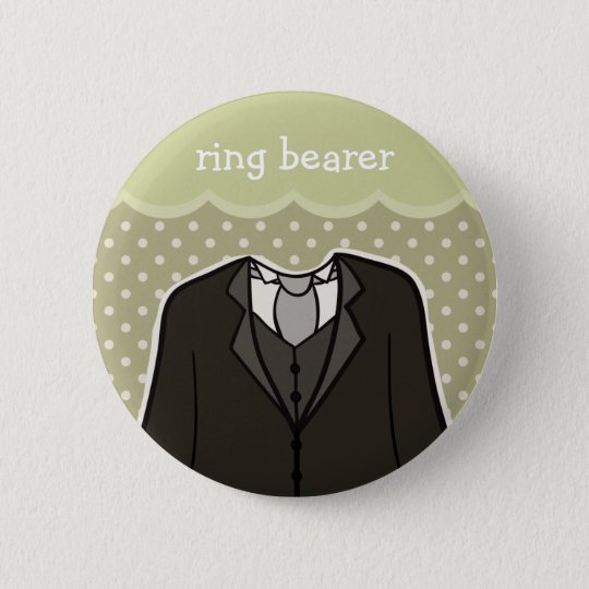 Ring bearer // GREEN 6 Cm Round Badge