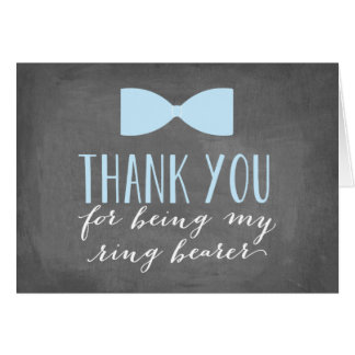 Ring Bearer Thank You | Groomsman Note Card