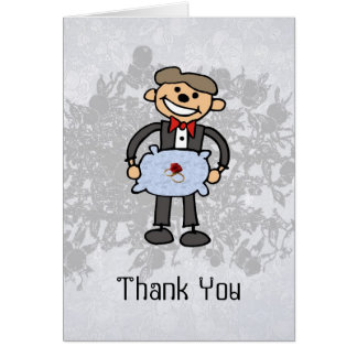 Ring Bearer Thank you  Wedding Attendant Card