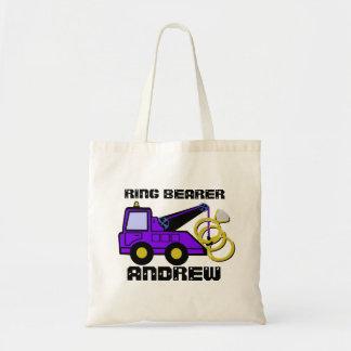 Ring Bearer Tow Truck Purple