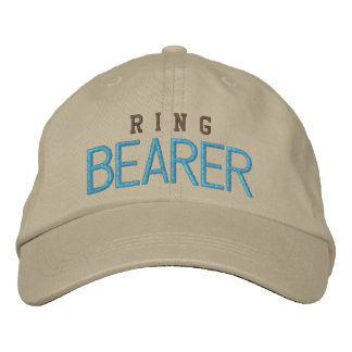 Ring bearer wedding bachelor blue baseball cap