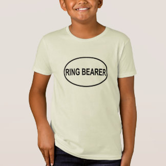 Ring Bearer Wedding Oval T-Shirt
