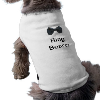 Ring Bearer with bow Sleeveless Dog Shirt