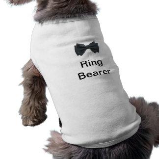 Ring Bearer with bow Sleeveless Dog Shirt