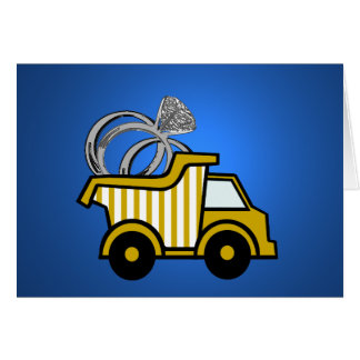 Ring Bearer Yellow Dump Truck Stationery Note Card