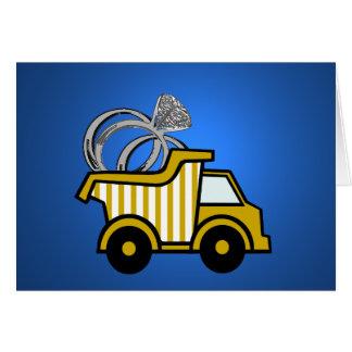 Ring Bearer Yellow Dump Truck Card