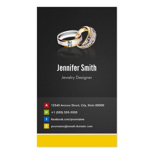 Ring Design Jeweler Jeweller Jewelry Jewellery Business Card