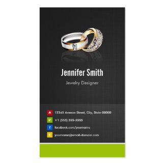 Ring Design Jeweler Jeweller Jewelry Jewellery Pack Of Standard Business Cards