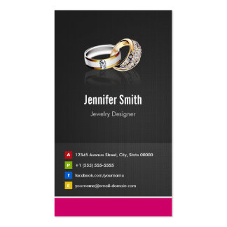 Ring Design Jeweler Jeweller Jewelry Jewellery Pack Of Standard Business Cards