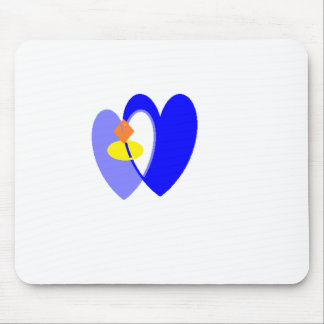 ring heart mouse pad