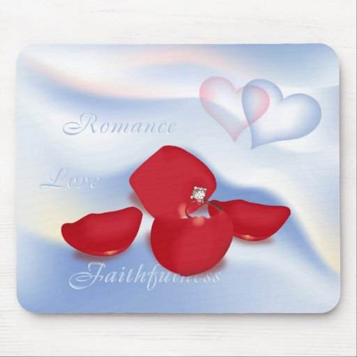 Ring in Petals Mouse Pad