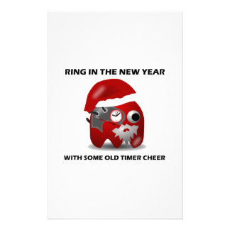 Ring In The New Year With Some Old Timer Cheer Stationery