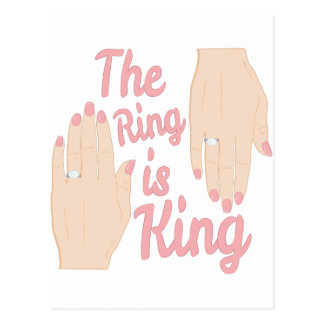 Ring Is King Postcard