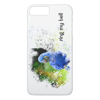 RING MY BELL Blue Hyacinth Macaw Parrot Tropical iPhone 8 Plus/7 Plus Case