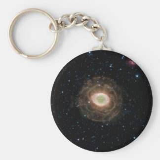 Ring Nebula in infrared Basic Round Button Key Ring