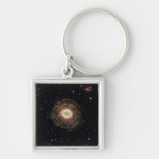 Ring Nebula in infrared Silver-Colored Square Key Ring