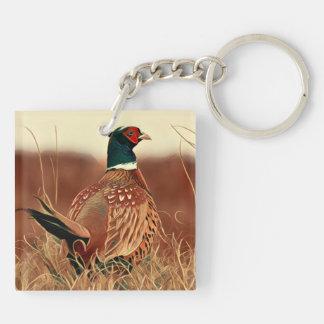 Ring-Necked Pheasant Key Ring