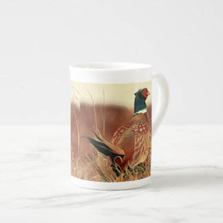 Ring-Necked Pheasant Painting Tea Cup