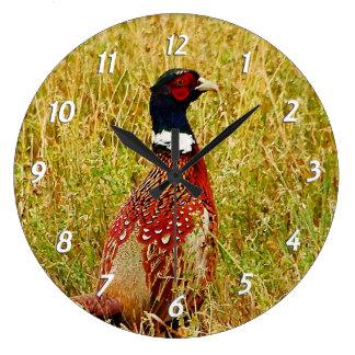 Ring-necked Pheasant Wall Clock