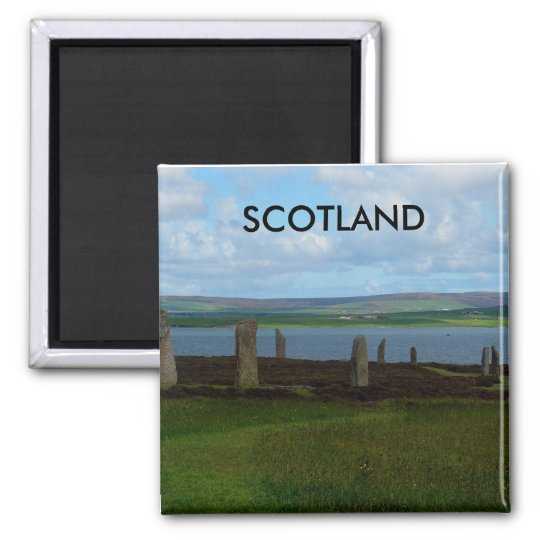 Ring of Brodgar - Scotland Square Magnet