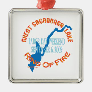 Ring Of Fire 2009 Square Metal Christmas Ornament