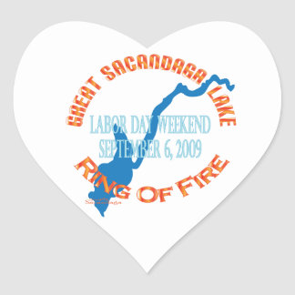 Ring Of Fire 2009 Heart Sticker