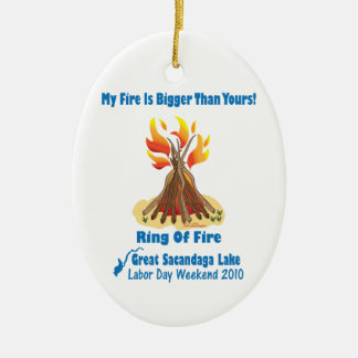 Ring Of Fire 2012 Ceramic Oval Decoration